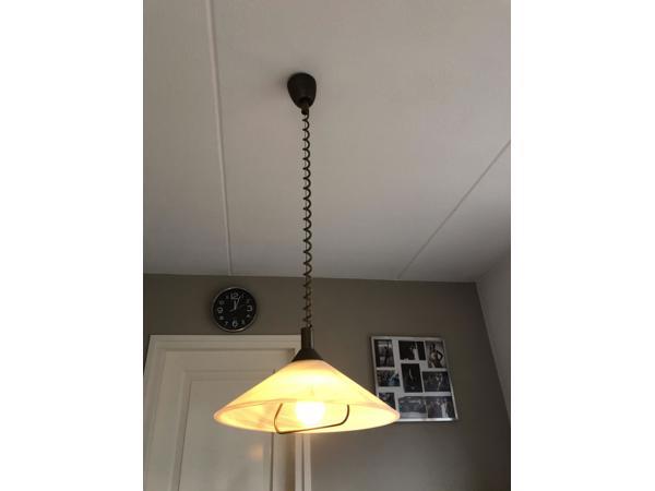 Hanglamp van opaal glas