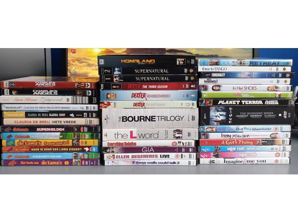 Meer dan 100 dvd's - gereserveerd!!