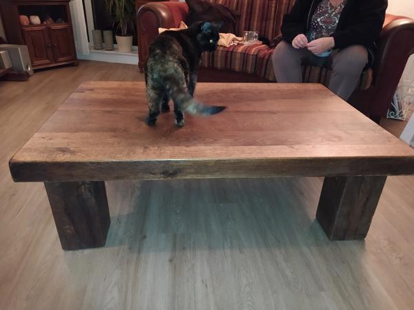 Massief eiken salontafel