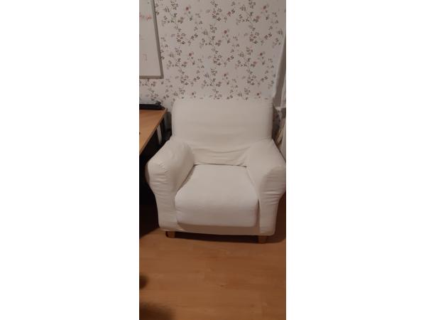 Witte fauteuil
