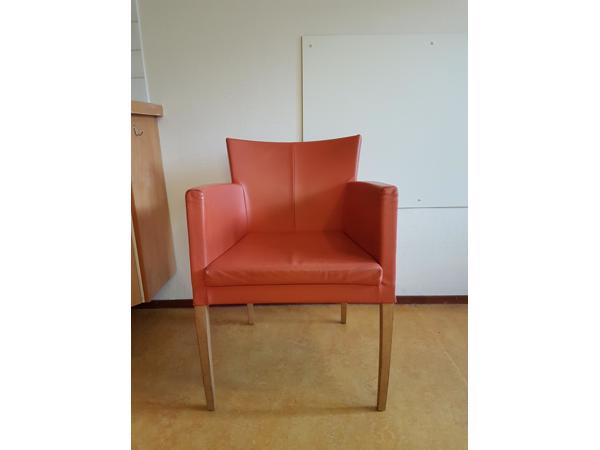 Leren stoeltje