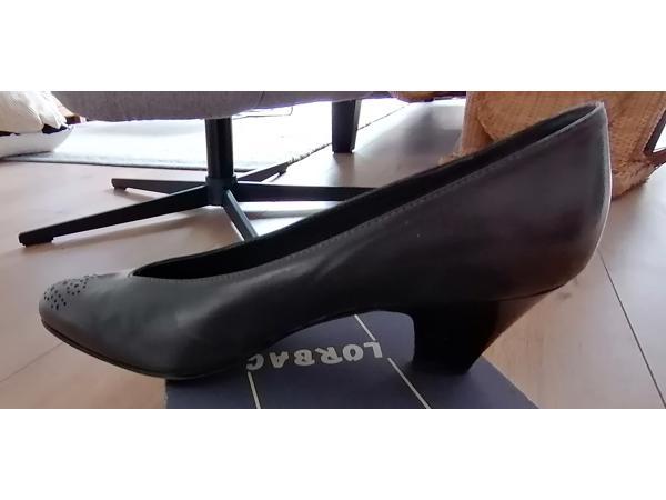Nette leren grijze schoenen pumps als nieuw maat 40,5