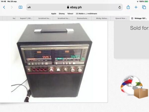 te koop: Panasonic Geluidversterker, met Karaoke speaker